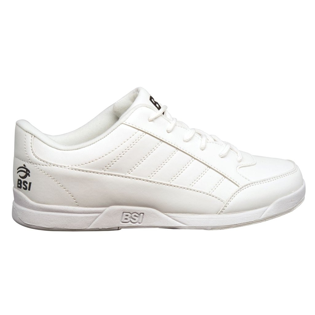 BSI Boys Sport Bowling Shoes (4 M US, White) by Bowlers Superior Inventory