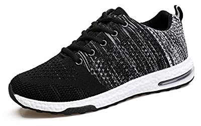 WELMEE Men's Knit Comfortable Breathable Casual Air Sneakers Lightweight Tennis Walking Running Shoes