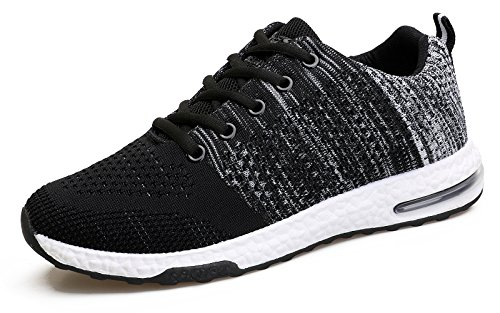 WELMEE Mens Knit Comfortable Breathable Casual Air Sneakers Lightweight Athletic Tennis Walking Running Shoes