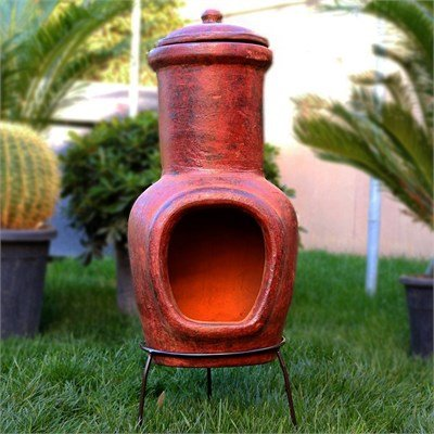 outdoor clay fireplace - 8