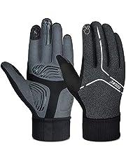 Souke Sports Fietshandschoenen voor Heren/Dames Gel Schokabsorptie Mountainbike Handschoenen Met Lange Vingers en Natuurlijk Touchscherm Vriendelijk