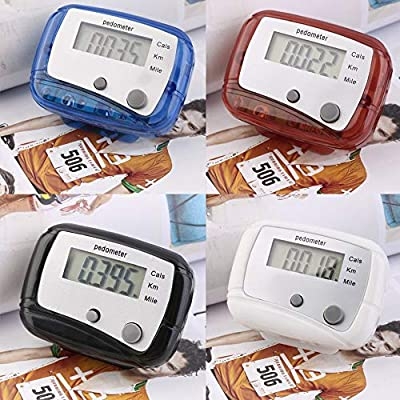 Tumdem Lightweight Design Belt Clip for Easy Use Mini Digital LCD Run Step Pedometer Walking Distance Counter ABS up to 99999 Steps : Garden & Outdoor