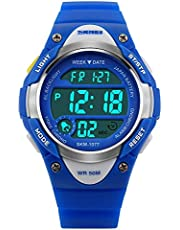 Watches,Kids Outdoors Waterproof Wristwatch,Multifunctional LED Digital Watch for Boys Girls