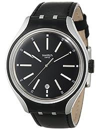 Swatch Men's YES4003 Irony Analog Display Swiss Quartz Black Watch