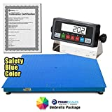 "PrimeScales Heavy Duty 48""x48"" Industrial Floor Scale PS-10000F & Indicator – Accurate Digital Pallet & Warehouse Scales, Built-In Smart Data Function & Calibration Certification"