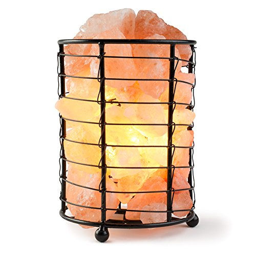 HemingWeigh Himalayan Salt Chips, Lamp in Metal Cylinder Electric Wire & Bulb Included (6 inc) by HemingWeigh