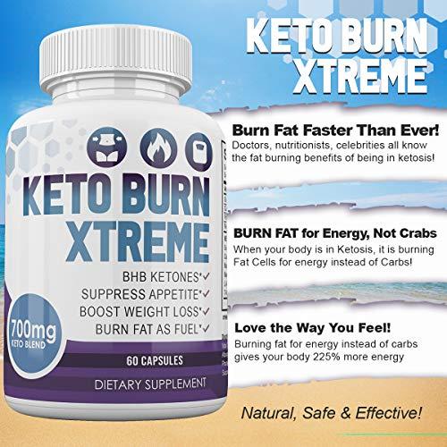 Keto Burn Xtreme - BHB Ketones - Suppress Appetite - Boost Weight Loss - Burn Fat As Fuel - 700mg Keto Blend - 30 Day Supply by Keto Burn Xtreme (Image #5)