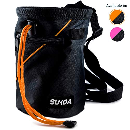 Sukoa Chalk Bag with Quick-Clip Belt and 2 Large Zippered