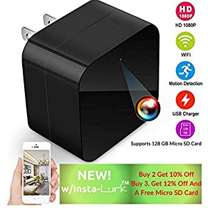 Spy Camera-Hidden Camera-Home Security Camera System-WiFi Camera-Surveillance Camera-Wireless-Spy Gear-Nanny Cam-Pet Camera-Mini Home Camera Indoor-Spy Cam-USB Camera-USB Charger Hidden Camera-Spycam