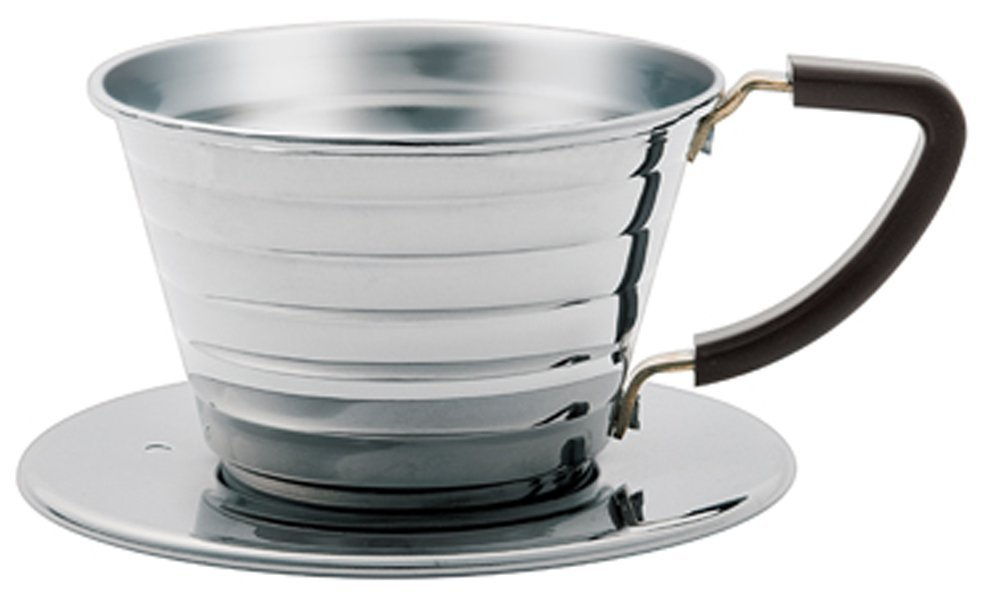 Kalita 04021 Stainless Steel Wave 155 Coffee Dripper, Size