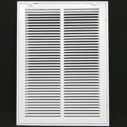 """14"""" x 20 steel return air filter grille for 1"""" filter - removable ..."""