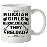RUSSIAN Coffee Mug 11 Oz - Good Gifts for Girls - Unique Coffee Cup - Decor Decal Souvenirs Memorabilia