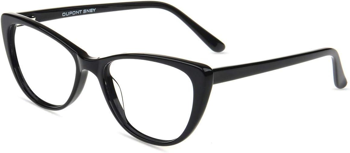 Firmoo Gafas Luz Azul para Ordenador Gaming UV Filtro Proteccion Ojos Antifatiga Gafas para Mujer Hombre,Gafas Ojo de Gato de la Moda, D2358 Negro
