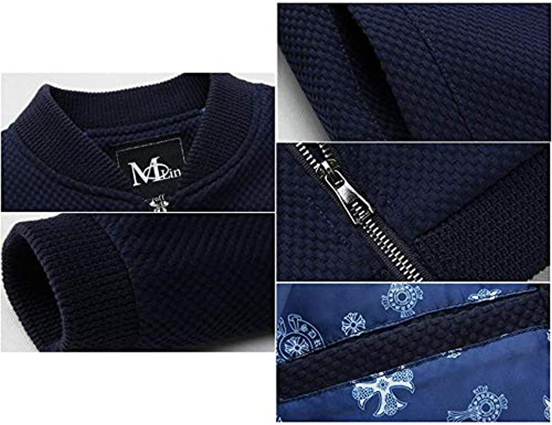 HX fashion Strickwaren Cardigans Męskie Stehkragen Jacken Farbige Plain Baseball Abnutzung Bequeme Größen Jugendliche Casual Homewear Mäntel Für Outdoor Täglich: Odzież