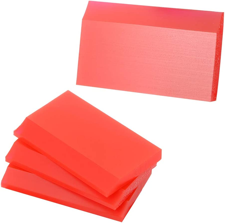 Pack 4 Fine Edge Tinting Vinyl Wrap Installation Small Hand Held Applicator Rubber Squeegee for Cleaning Resin 3D Printers SLA PET Film Car Auto Tint Glass Film Bubble Remover Without Scratching