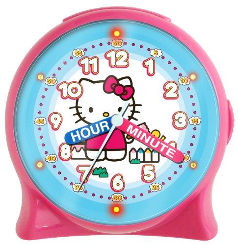 Teaching Clock Hands (Hello Kitty HKC196 Time Teacher Light-Up Desk Clock (Pink))