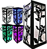 BRILLIANT AND MO Solar Hanging Lantern for Outdoors Garden Decoration Hummingbird Reflection Color Changing Light for Home Patio Deck Lawn Yard Decor