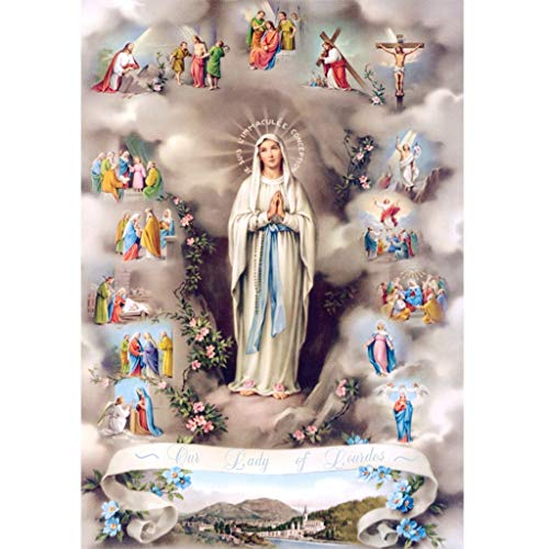 Religious Diamond Embroidery,Lovewe 5D Embroidery Paintings, Rhinestone Pasted DIY Diamond Painting, Cross Stitch 30X40cm ()