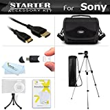 Starter Accessories Kit For The Sony Cyber-shot DSC-HX200V Digital Camera Includes Deluxe Carrying Case + 50 Tripod With Case + Mini HDMI Cable + LCD Screen Protectors + Mini TableTop Tripod + More