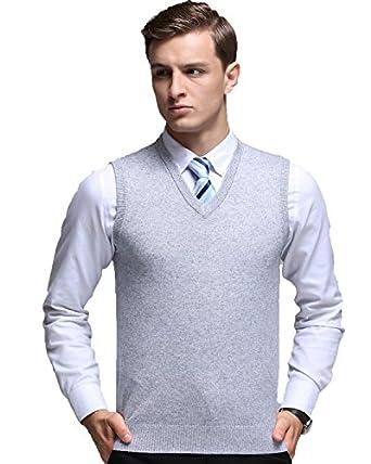 Kinlonsair Oversized Mens Casual Slim Fit Solid Lightweight V-neck ...