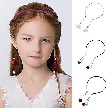 1 Baby Girls Women Imitation Pearl Princess Sweet Beads Hair Head band Hoop