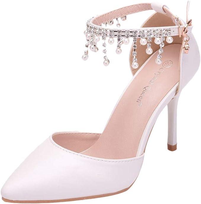 LILICHIC - Sandalias para mujer de la moda de cristal ...