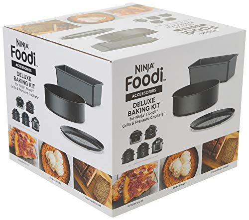 Ninja Deluxe Foodi Accessory Bake Kit, 6.5 & 8 qt, Grey