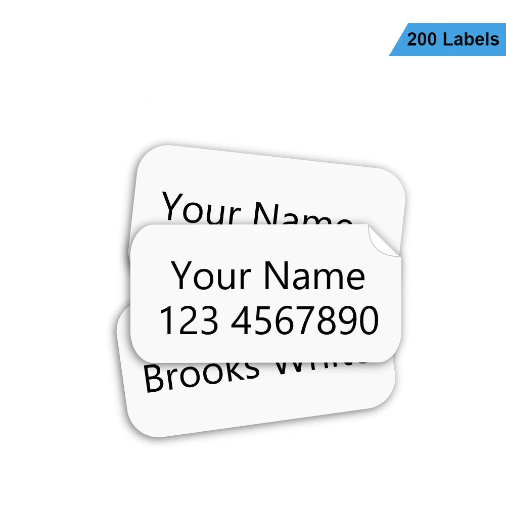 Name Labels for Clothing No-Iron Write-On Fabric Labels for Camp, School, Nursing Home, Washer & Dryer Safe, 200Pcs