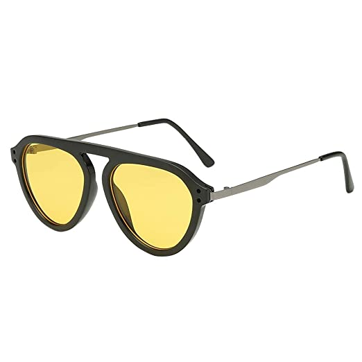 aeeee8c354e Amazon.com  Women s Fashion Big Width Sunglasses TANGSen Integrated Sexy  Casual Outdoor Vintage Glasses Beach Sunglasses  Clothing