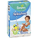 Pampers Splashers Swim Diapers Disposable Swim Pants, Medium (20-33 lb), 11 Count