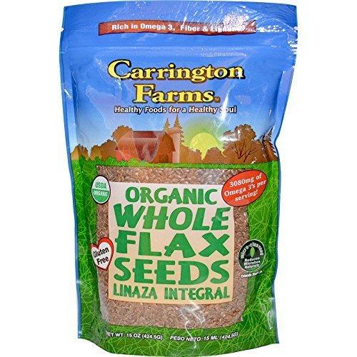 Pkg Farm (Carrington Farms Organic Whole Flax Seeds 15 oz Pkg by Carrington Farms)