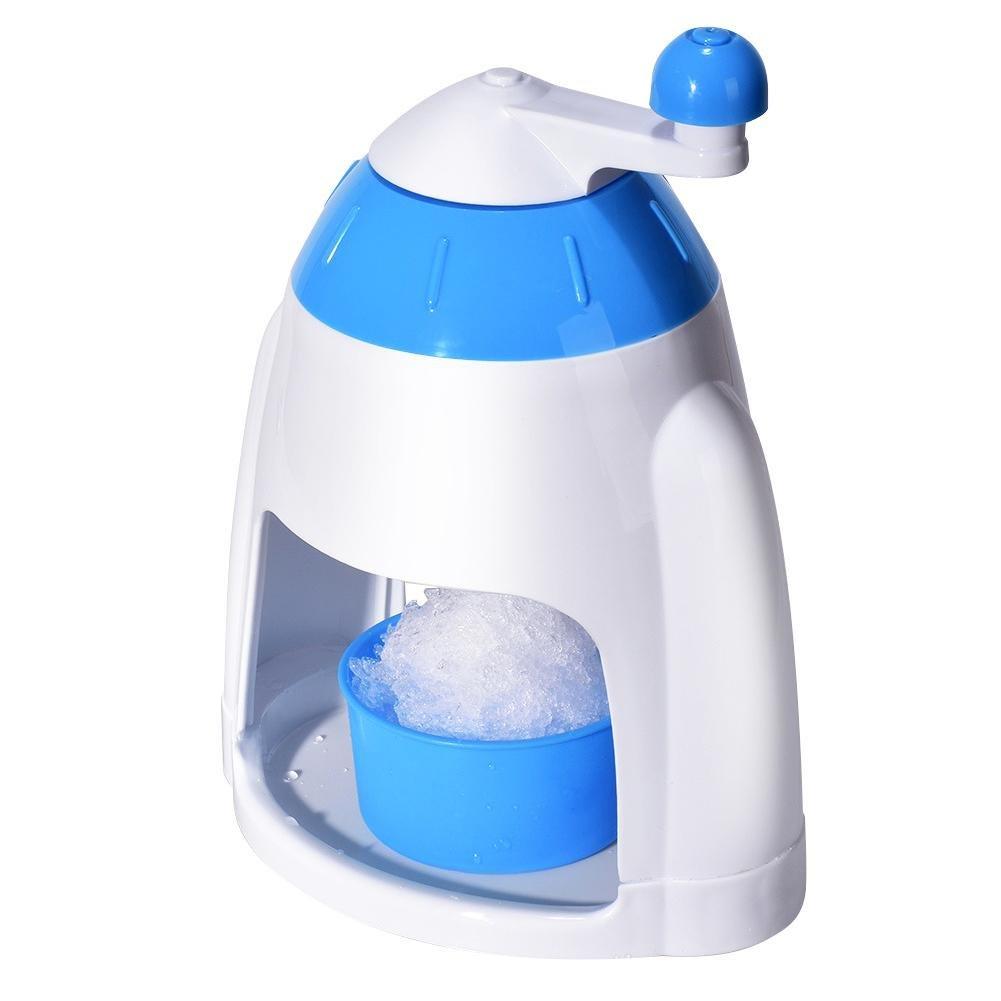 briseur de hielo picadora de hielo manual con bandeja m/áquina de hielo picado de hielo c/óctel de frutas prunch zumo triturador de hielo manivela Manual actionn/ée para el /écrasement r/ápido