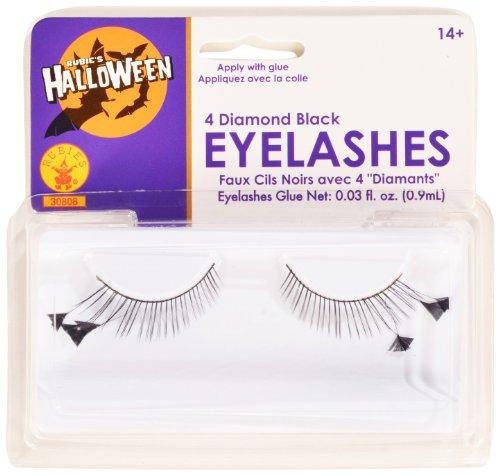 Rubies Black and 4 Diamonds Eyelashes and Adhesive ()