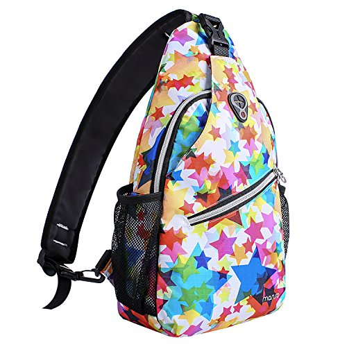 MOSISO Sling Backpack, Multipurpose Crossbody Shoulder Bag Travel Hiking Daypack, Star
