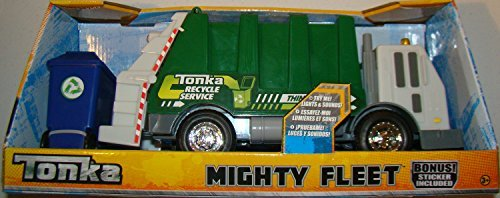Tonka Mighty Fleet 13 inch Recycle Garbage Truck Lights & Sounds (Tonka Remote Control Car)