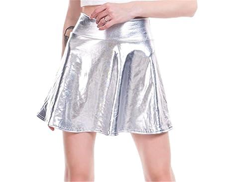 Tofox Falda Plisada Corta De Cintura Alta Falda Mujer Ropa De ...