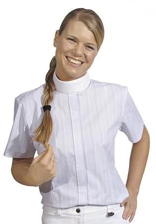 HKM Herren-Turnierhemd Easy- wei/ß//wei/ß