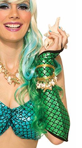 Little Mermaid Broadway Costumes (Mermaid Sleeves Metallic Ariel Sea Fish Halter Adult Women's Costume)