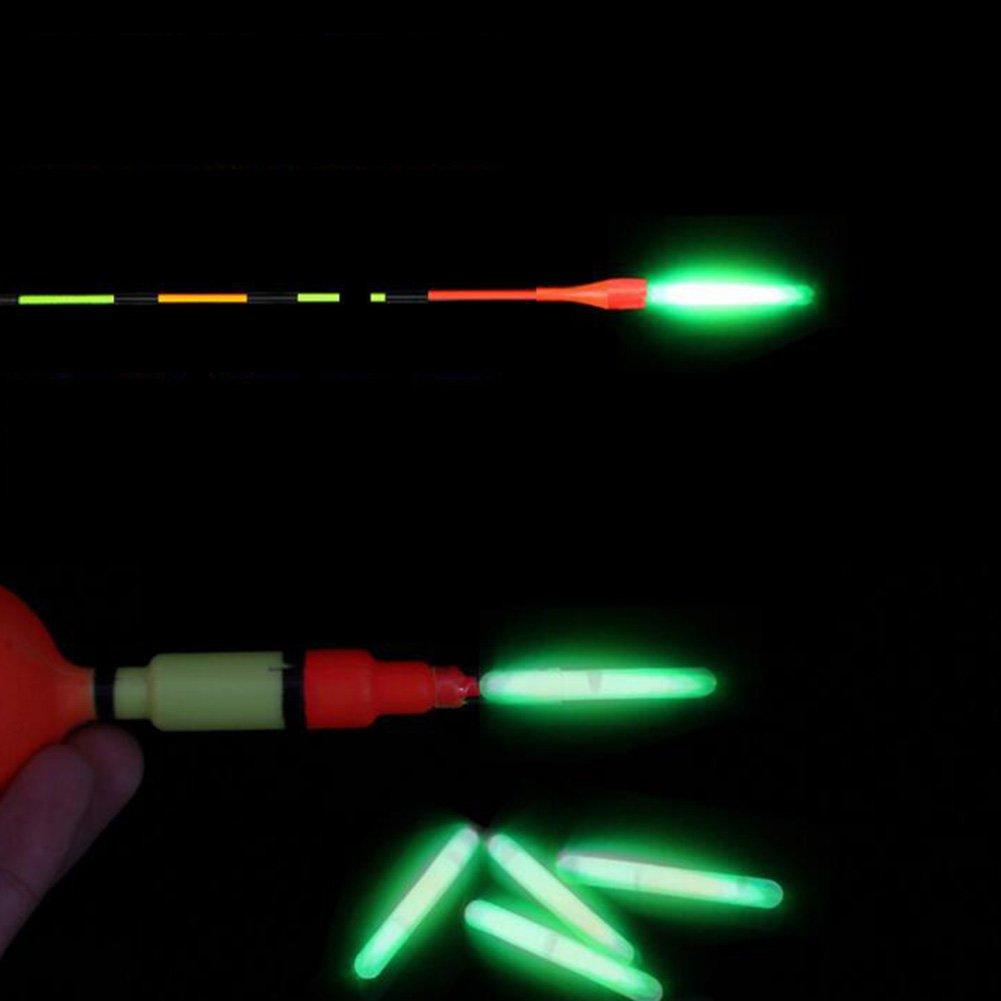 EDTara Night Fishing Luminous Float Fluorescent Light Stick Rod Dark Glow Stick Fishing Tools 50PCS 4.5x37MM