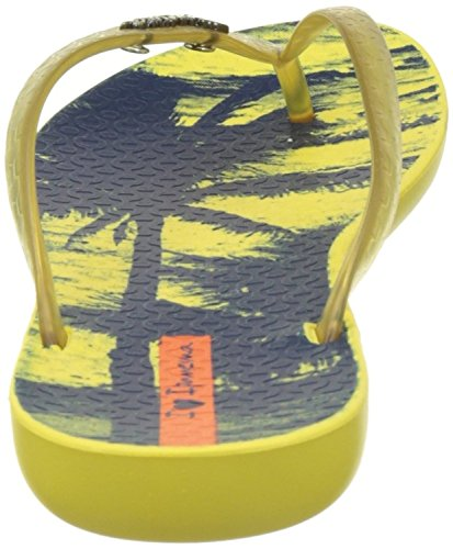 Ipanema Womens Wave Post Open Toe Casual Yellow/Yellow/Navy AmV9Mj6