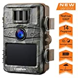 """Campark Trail Camera 14MP 1080P Game&Hunting Camera Night Vision Motion Activated up to 20m with 2.4"""" LCD 44 Pcs Invisible IR LEDs IP66 Waterproof Design for Wildlife Hunting and Home Security"""