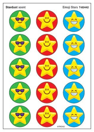 TREND enterprises, Inc. Emoji Stars Stinky Stickers, 60 ()