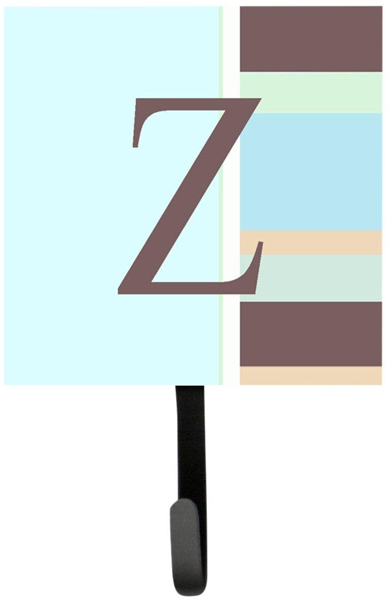 Carolines Treasures CJ1003-ZSH4 Letter Z Initial Monogram Blue Stripes Leash Holder or Key Hook 7Hx4.25W Multicolor