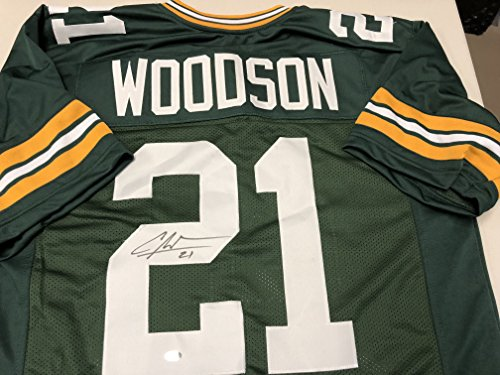 Charles Woodson Autographed Signed Green Bay Packers Custom Jersey GTSM Woodson Hologram & COA Card (Woodson Autograph)