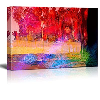 Canvas Prints Wall Art - Abstract Color in Watercolor Painting Style | Modern Wall Decor/Home Decoration Stretched Gallery Canvas Wrap Giclee Print & Ready to Hang - 24