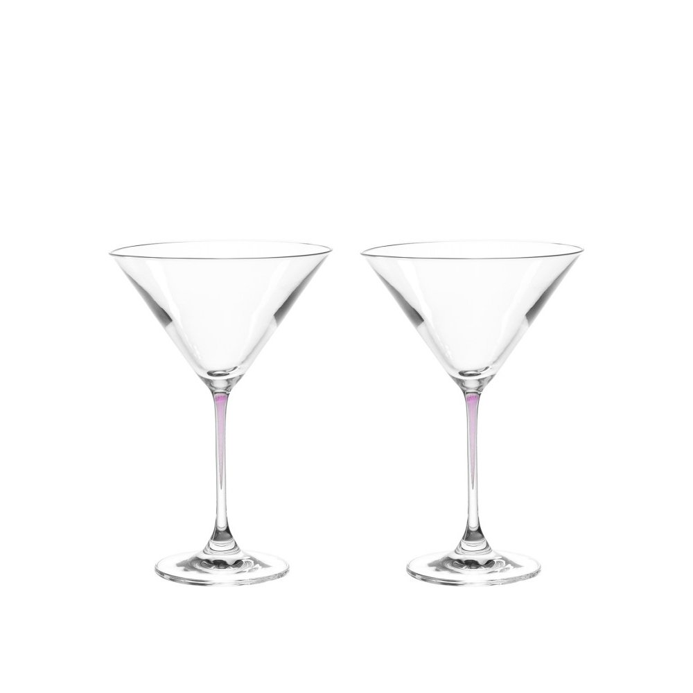 Viola//lila 2 er Set Glas LA Perla LEONARDO 018969 Cocktailschale//Martinischale