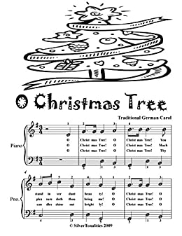 O Christmas Tree In German.O Christmas Tree Traditional German Carol Easiest Piano Sheet Music