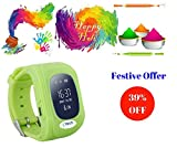 IFITech GSM/GPRS/GPS Triple Positioning GPRS Tracker Watch for Kids Children Smart Watch with SOS Support GSM phone Android IOS Anti Lost-Green