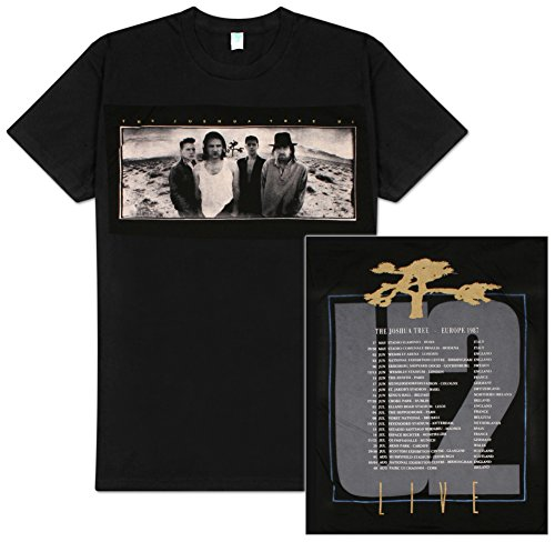 U2 'Joshua Tree' Black 2-sided White Mens T-shirt