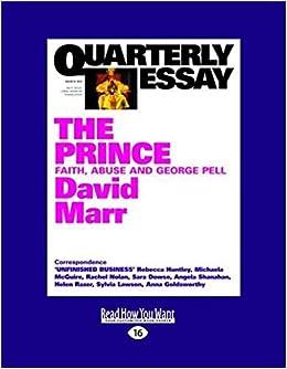 quarterly essay david marr george pell
